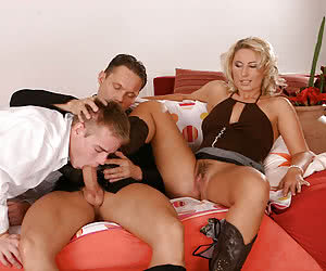 forced bisexual cum eating domination