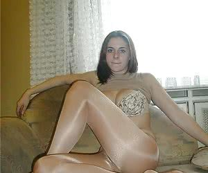 My lovely sluts posing in pantyhose mix gal