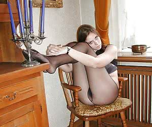 Young amateur girls looks sexy in their pantyhose
