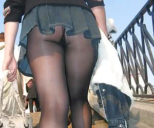 Nice upskirt in pantyhose collection
